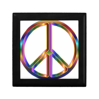 Colorful Peace Sign Gift Box