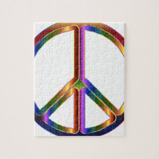 Colorful Peace Sign Jigsaw Puzzle