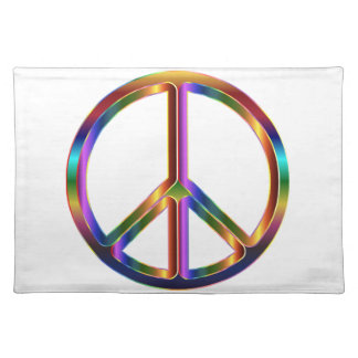 Colorful Peace Sign Placemats
