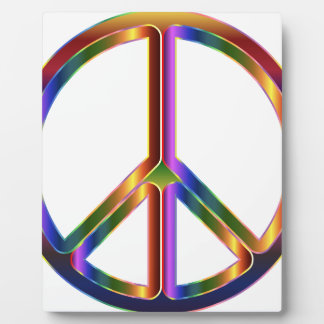 Colorful Peace Sign Plaque