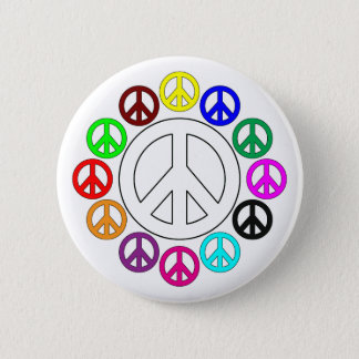 colorful peace signs pins