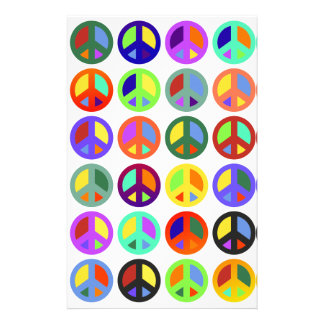 Colorful Peace Signs Stationery