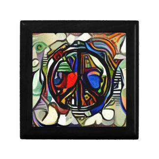 Colorful peace symbol gift box