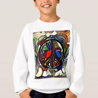 Colorful peace symbol sweatshirt