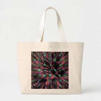 Colorful Peacock Abstract Jumbo Tote Bag