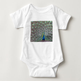 Colorful Peacock Baby Bodysuit