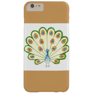Colorful Peacock Barely There iPhone 6 Plus Case