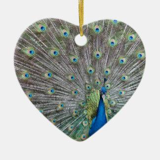 Colorful Peacock Ceramic Ornament