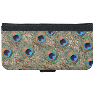Colorful Peacock Feathers iPhone 6 Wallet Case