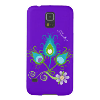 Colorful Peacock Feathers Samsung Galaxy S5 Case