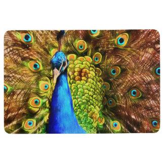Colorful Peacock Floor Mat