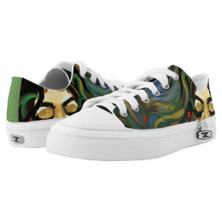 Colorful Peacock Low-Top Sneakers