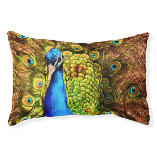 Colorful Peacock Pet Bed