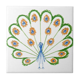 Colorful Peacock Tile