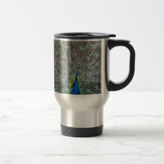 Colorful Peacock Travel Mug