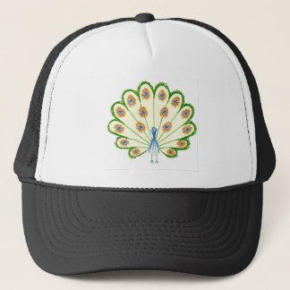 Colorful Peacock Trucker Hat