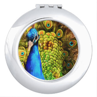 Colorful Peacock Vanity Mirrors