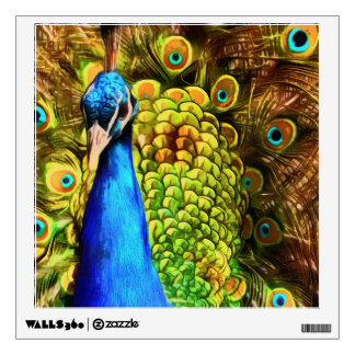 Colorful Peacock Wall Sticker