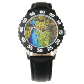Colorful Peacock Watch