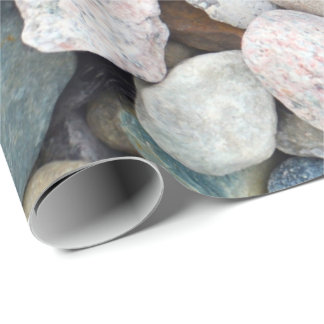 Colorful pebble pattern wrapping paper