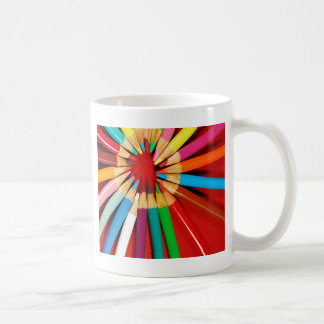 Colorful pencil crayons print coffee mug