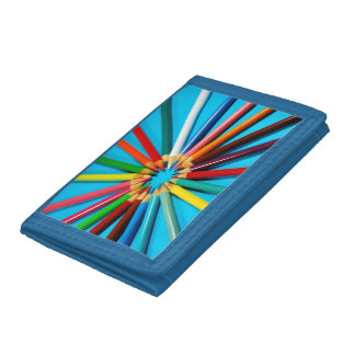 Colorful pencil crayons wallet