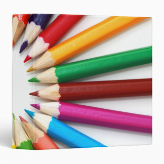 Colorful Pencils 3 Ring Binders