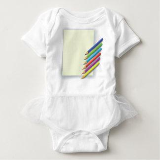 colorful pencils baby bodysuit