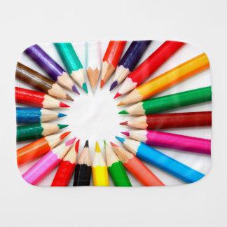 Colorful Pencils Baby Burp Cloths