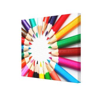 Colorful Pencils Canvas Print