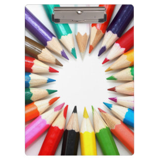 Colorful Pencils Clipboard