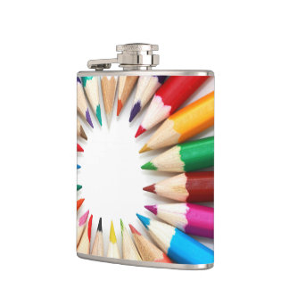 Colorful Pencils Flask