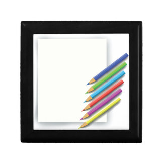 colorful pencils gift box