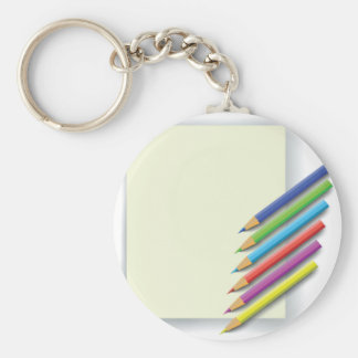 colorful pencils keychain