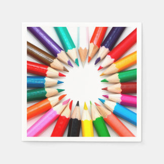 Colorful Pencils Paper Napkins