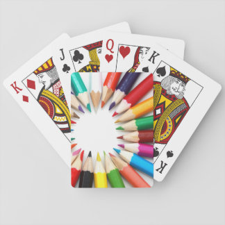 Colorful Pencils Playing Cards