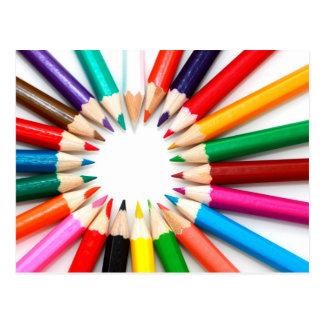 Colorful Pencils Postcard