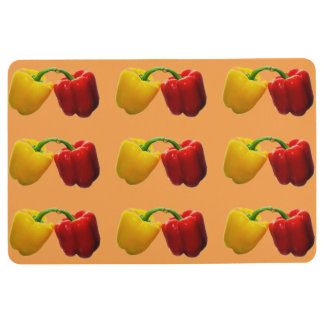 Colorful Peppers Floor Mat