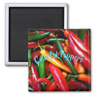 Colorful Peppers Magnet