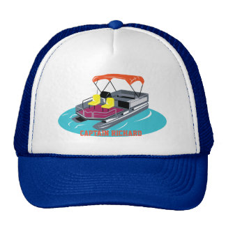 Colorful Personalized Pontoon Boat Cap Trucker Hat