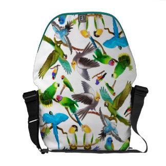 Colorful Pet Birds Rickshaw Messenger Bag