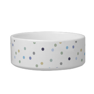 Colorful pet dots bowl