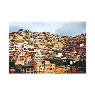 colorful Petare Canvas Print