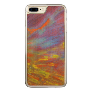Colorful Petrified Wood close-up Carved iPhone 7 Plus Case