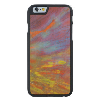 Colorful Petrified Wood close-up Carved Maple iPhone 6 Case