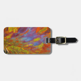 Colorful Petrified Wood close-up Luggage Tag