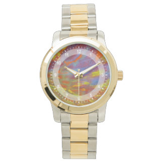 Colorful Petrified Wood close-up Watches