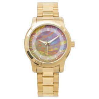 Colorful Petrified Wood close-up Wristwatches