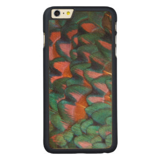 Colorful Pheasant Feathers Abstract Carved Maple iPhone 6 Plus Case