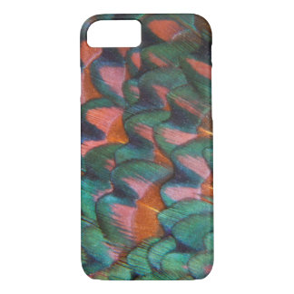 Colorful Pheasant Feathers Abstract iPhone 8/7 Case